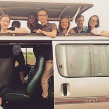 Photo of Beatrice and Interns on East African Safari