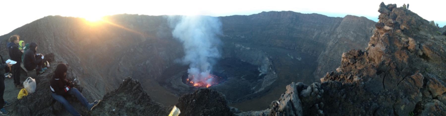 Jimmy Graham visiting Nyirangongo volcano in the Congo just past the Rwandan border