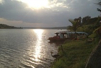 Jimmy Graham visiting Lake Muhaze in Rwanda