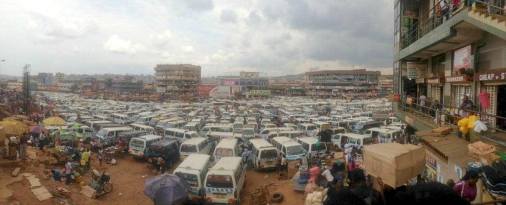 Ugandan car park