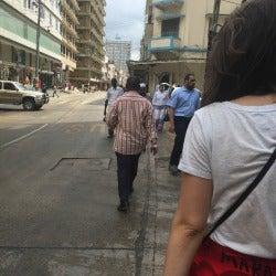 Photo of Paula Mian in downtown Dar Es Salaam