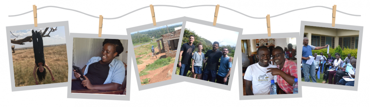 a collage of photos from interns in Kenya over the summer